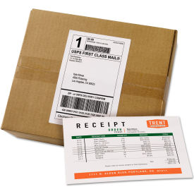 "avery® shipping labels with paper receipt bulk pack, 5-1/16"" x 7-5/8"" , white, 100/box Avery® Shipping Labels with Paper Receipt Bulk Pack, 5-1/16"" x 7-5/8"" , White, 100/Box"