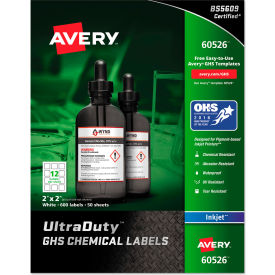 "avery® ghs chemical waterproof & uv resistent labels, inkjet, 2"" x 2"", 600/pack Avery® GHS Chemical Waterproof & UV Resistent Labels, Inkjet, 2"" x 2"", 600/Pack"