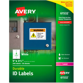 "avery® permanent id labels with trueblock technology, laser, 3-1/2"" x 5"", 200/pack Avery® Permanent ID Labels with TrueBlock Technology, Laser, 3-1/2"" x 5"", 200/Pack"
