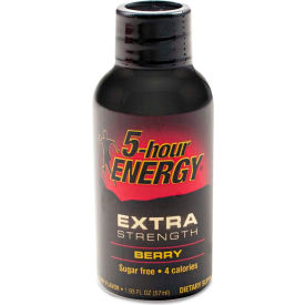 5-hour energy® extra strength energy drink, berry, 1.93oz bottle, 12/pack 5-hour ENERGY® Extra Strength Energy Drink, Berry, 1.93oz Bottle, 12/Pack