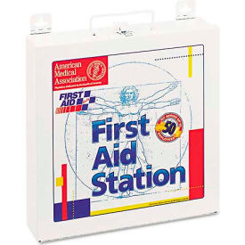 first aid only 226-u first aid station for 50 people, 196 pieces, osha compliant, metal case