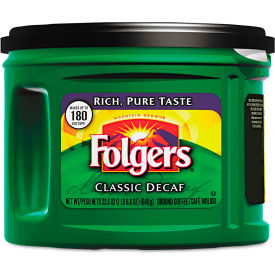 folgers® classic roast coffee, decaffeinated, 22.6 oz., 6/carton Folgers® Classic Roast Coffee, Decaffeinated, 22.6 oz., 6/Carton