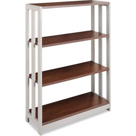 "linea italia bookcase with 3 shelves - 31-1/2""w x 11-5/8""d x 43-1/4""h - mocha - trento series Linea Italia Bookcase with 3 Shelves - 31-1/2""W x 11-5/8""D x 43-1/4""H - Mocha - Trento Series"