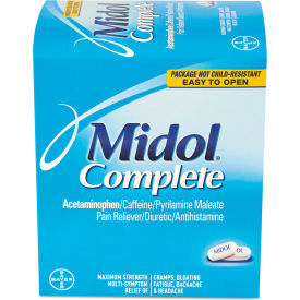 PFYBXMD30 Midol; Menstrual Complete Caplets, Two-Pack, 30 Packs/Box