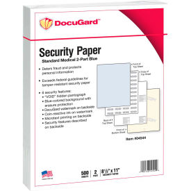 "docugard™ medical security papers, 8-1/2"" x 11"", 32 lb., blue/canary, 250 sheets/pack DocuGard™ Medical Security Papers, 8-1/2"" x 11"", 32 lb., Blue/Canary, 250 Sheets/Pack"