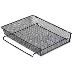 rolodex™ rol22211eld mesh stackable front load letter tray,wire,black