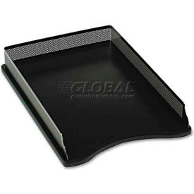 rolodex™ role22615 distinctions self-stacking desk tray,metal/black
