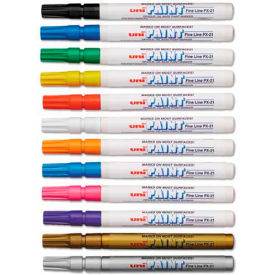 63721 Sanford; uni-Paint Markers, Fine Point, Assorted, 12/Set