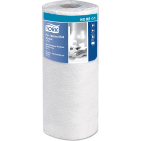 "tork handi-size perforated roll towel, 2-ply, 11""w x 6 3/4""l, 120/roll, white, 30/case - hb9201 Tork Handi-Size Perforated Roll Towel, 2-Ply, 11""W x 6 3/4""L, 120/Roll, White, 30/Case - HB9201"