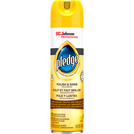 pledge beautify enhancing polish, lemon, 14.2 oz. aerosol can, 6 cans - 301168  Pledge Beautify Enhancing Polish, Lemon, 14.2 oz. Aerosol Can, 6 Cans - 301168