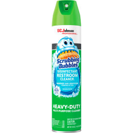 scrubbing bubbles® disinfectant restroom cleaner, 25 oz. aerosol spray, 12 cans - 313358 Scrubbing Bubbles® Disinfectant Restroom Cleaner, 25 oz. Aerosol Spray, 12 Cans - 313358