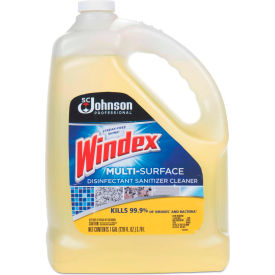 windex® multi-surface disinfectant cleaner, citrus scent, 1 gallon bottle, 4 bt - 682265 Windex® Multi-Surface Disinfectant Cleaner, Citrus Scent, 1 Gallon Bottle, 4 Bt - 682265