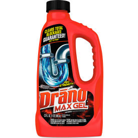 drano® max gel clog remover, 32 oz. bottle, 12 bottles - 694768