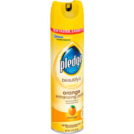 pledge® furniture polish, orange clean scent - 9.7 oz. aerosol, 12/ct - 697834