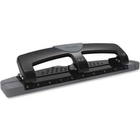"swingline® 12-sheet smarttouch three-hole punch, 9/32"" holes, black/gray Swingline® 12-Sheet SmartTouch Three-Hole Punch, 9/32"" Holes, Black/Gray"