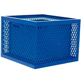 SQ2418-VB Square UltraCoat Outdoor Planter, Diamond - Blue