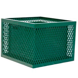 SQ2418-VG Square UltraCoat Outdoor Planter, Diamond - Green