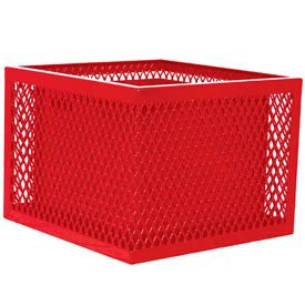 SQ2418-VR Square UltraCoat Outdoor Planter, Diamond - Red