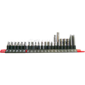 urrea hex insert set, 60142, flat, phillips, torx & clutch bits w/magentic holder, 42 pieces