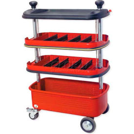 "urrea 9982 27-1/2"" 4 tray collapsible tool trolley Urrea 9982 27-1/2"" 4 Tray Collapsible Tool Trolley"