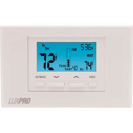 lux low voltage digital 7-day programmable thermostat p621u - 2 stage heat 1 cool heat pump 24 vac LUX Low Voltage Digital 7-Day Programmable Thermostat P621U - 2 Stage Heat 1 Cool Heat Pump 24 VAC