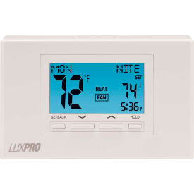 lux low voltage digital 7-day programmable thermostat p722u - 2 stage heat 2 cool heat pump 24vac LUX Low Voltage Digital 7-Day Programmable Thermostat P722U - 2 Stage Heat 2 Cool Heat Pump 24VAC