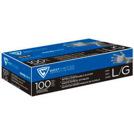 2910/L PosiShield; 2910 Industrial Grade Nitrile Disposable Gloves, Powder-Free, Blue, L, 100/Box