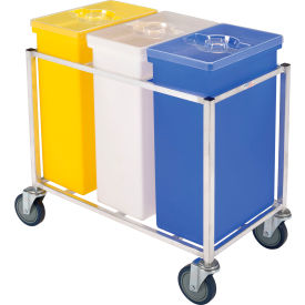 148PIB Winholt; 148 PIB-Triple Ingredient Bin Cart, Aluminum Cart w/3 Polyethylene Bins