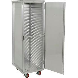 "EC1840-CLC Winholt EC1840-CLC Enclosed Mobile Transport Cabinet, 68""H, 40 Pan Capacity, Aluminum"