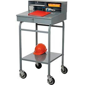"RDMWN-3 Steel Receiving Desk, Mobile, 22""W"