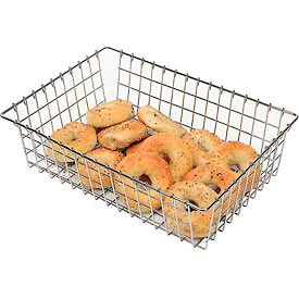 "WBB1319 Winholt WBB1319 - Bagel, Bread and Bun Wire Basket, Level Top, 13-3/4""W"