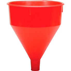 32005 Funnel King; Red Safety Polyethylene 6 Quart Funnel - 32005