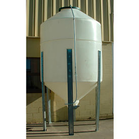 plastic storage silo 4 tons with 10 gauge galvanized steel frame uv protected - nsf certified Plastic Storage Silo 4 Tons with 10 Gauge Galvanized Steel Frame UV Protected - NSF Certified