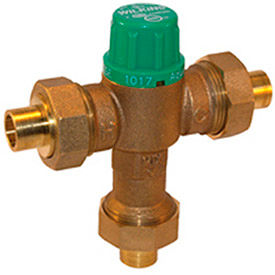 12-ZW1017XL Zurn 12-ZW1017XL 1/2 In. FNPT Thermostatic Mixing Valve - Lead Free Cast Bronze - ASSE1017