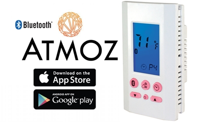THERMOSTAT BLUETOOTH PROGRAMMABLE 120/240V 16 AMP SP WHITE