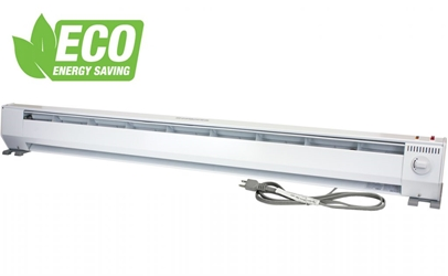 KP1215-ECO KP PORTABLE BASEBOARD HEATER 5FT 120V 750/1500W  2-STAGE ECO WHITE