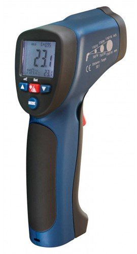 Infrared Thermometer, 30:1, 1922?F (1050?C), Integrated Type K Thermocouple R2005, Thermometer, Hand Tools, Testers, Meters, Infrared Thermometer, Thermocouple