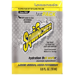 015303SQ Sqwincher® FastPack® Single Serve, 0.6 oz Packs, 6 oz Yield