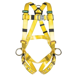 MSA Gravity® Urethane Coated Harness w/ Back & Side D-Ring