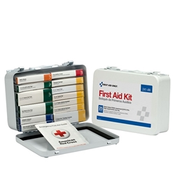 16-Unit Unitized Weatherproof First Aid Kit, Metal, 1/Each