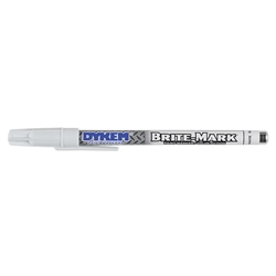 ITW ProBrands™ Brite-Mark® Fine Tip Permanent Paint Marker, White