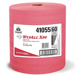 WypAll* X80 Towels, Jumbo Roll, Red, 475/Roll