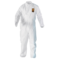 49104KC2 KleenGuard* A20 Breathable Particle Protection Coveralls w/ Elastic Back, Wrists, & Ankles, White