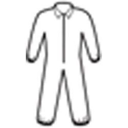 58504KC2 KleenGuard* A20 Breathable Particle Protection Coveralls w/ Elastic Back, Wrists, & Ankles, White