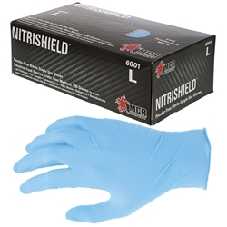 MCR Safety® DuraShield® Disposable Nitrile Gloves, Powder-Free, Large, 10 Boxes/100 ea