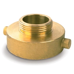 "Female x Male Brass Reducer, 2 1/2"" NST x 3/4"" GHT"