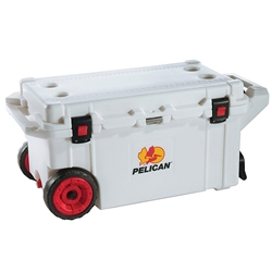 Pelican™ Elite Cooler (Wheeled) w/ Trolley Handle, 80 qt, White