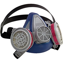 MSA Advantage® 200 LS Half-Mask Respirator, 2-Piece Neckstrap, Medium