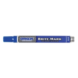 ITW ProBrands™ Brite-Mark® Medium Tip Permanent Paint Markers, Blue