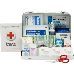 25-Person ANSI A Weatherproof First Aid Kit, Metal, 1/Each